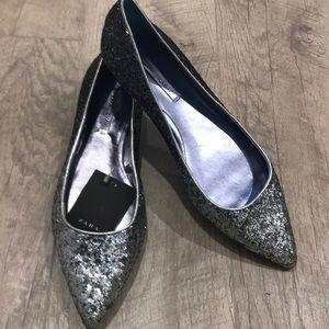 Zara flats glitter ✨ size 8 or 39euro, new